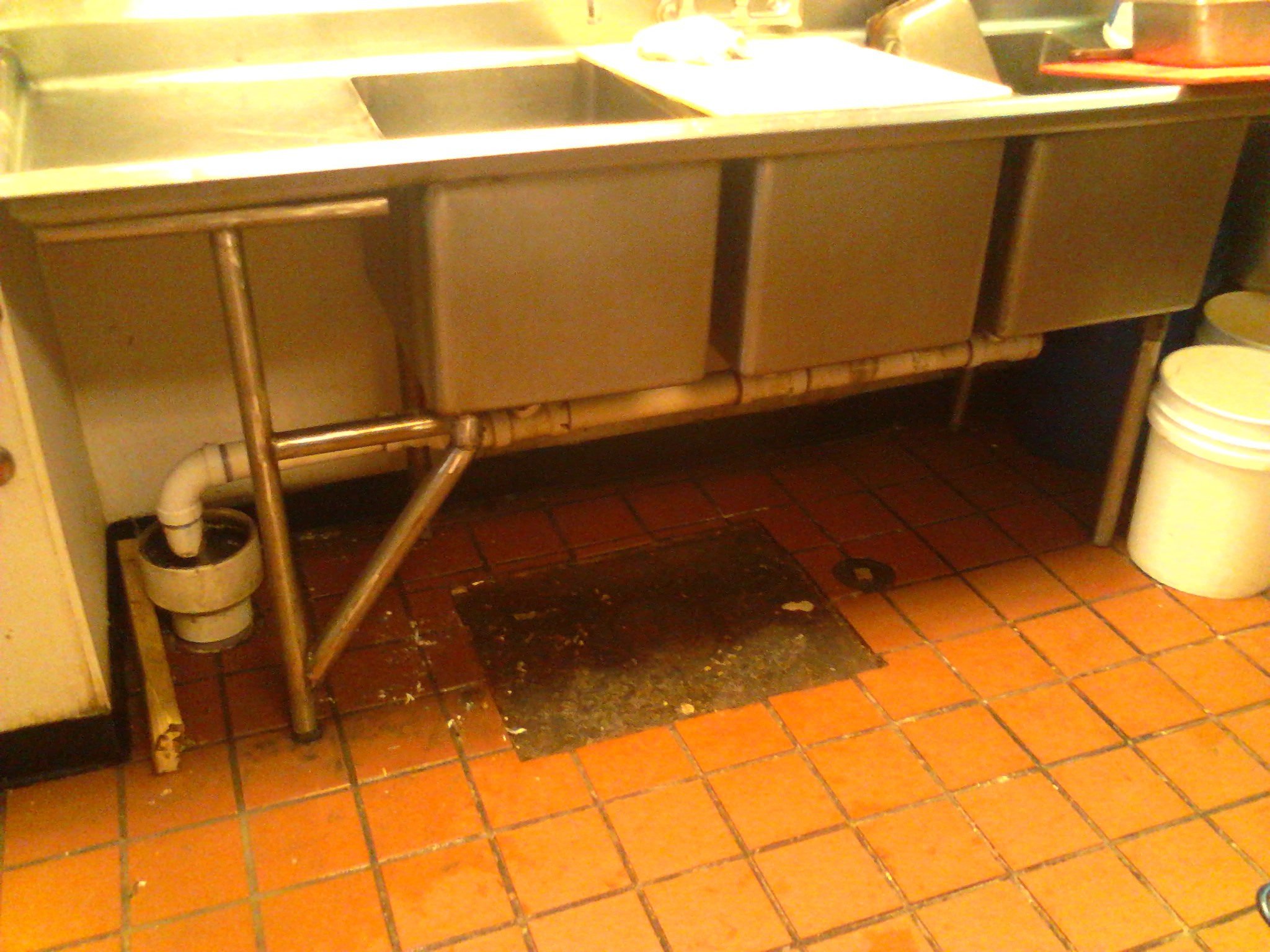 Kitchen Sink Grease Trap A trap of grease blue collar workman that workwithnaturefo