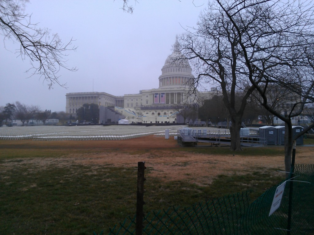 Setting Up For Inauguration Day