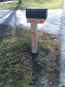 Snowplow proofed mailbox